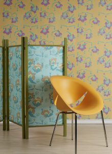 Collection of hand screen printed textiles, dedicated for furniture upholstery and soft furnishing. Patterned cushions, lampshades and curtains. Original patterns designed and printed by surface designer Justyna Medoń. Addicted to patterns Bristol based design & print studio.