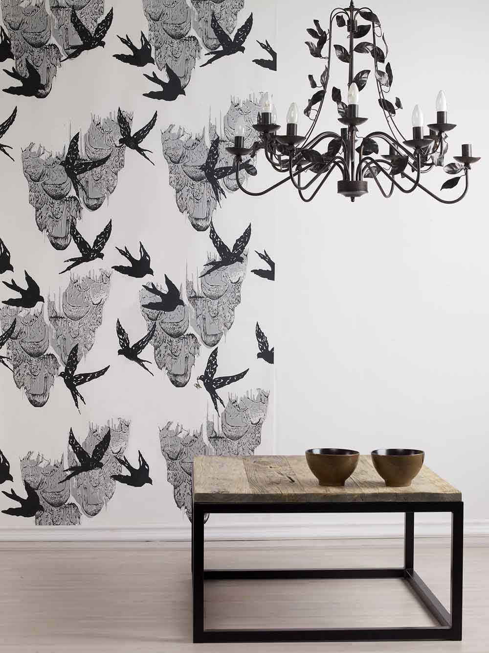 Swallows / Wallpapers by Addicted to patterns studio