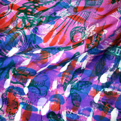 hand screen printed silk habotai unique printed patterns by surface designer justyna medon